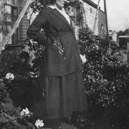 Woman standing in a garden