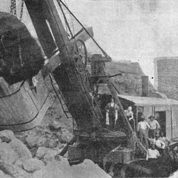 A Marion steam shovel at the Panama Canal