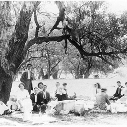 Saies Ltd. staff at a picnic at Lake Bonney