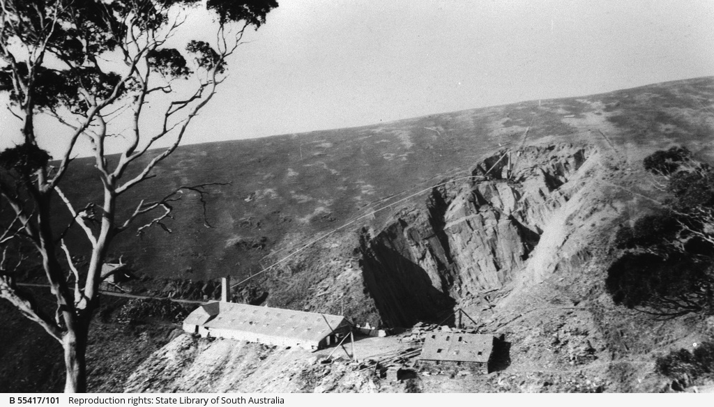 Crane at the Australian Slate Quarry, Willunga