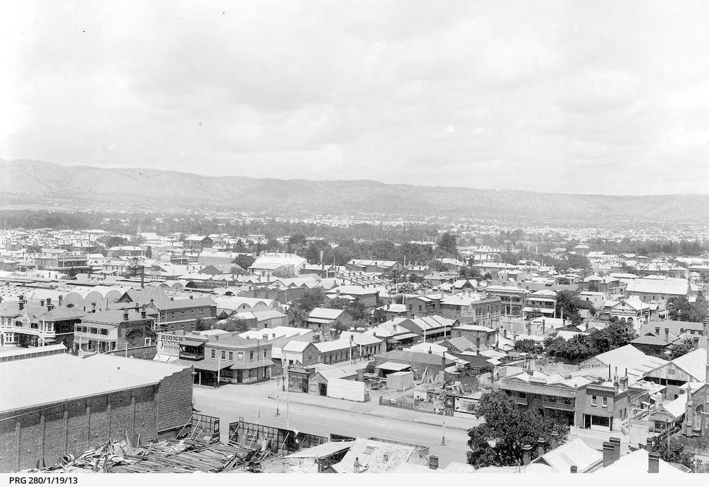 Roof-tops of central Adelaide