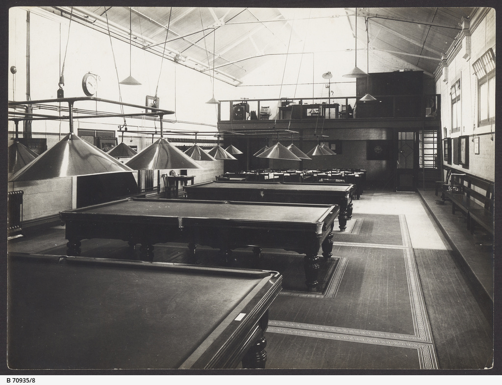 The staff billiard room at the MTT Hackney Depot