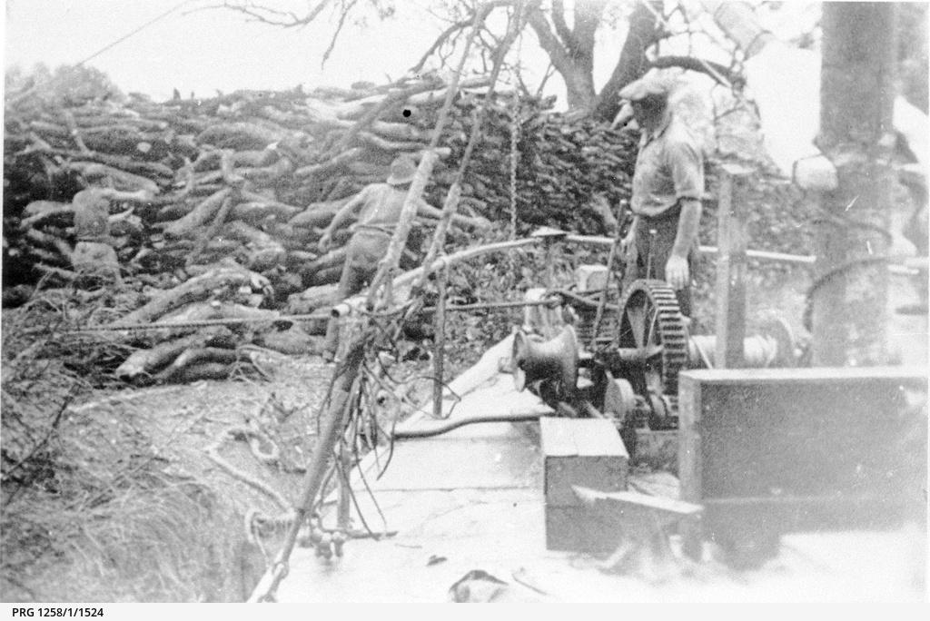 P.S. Kelvin loading firewood for Renmark Irrigation Trust