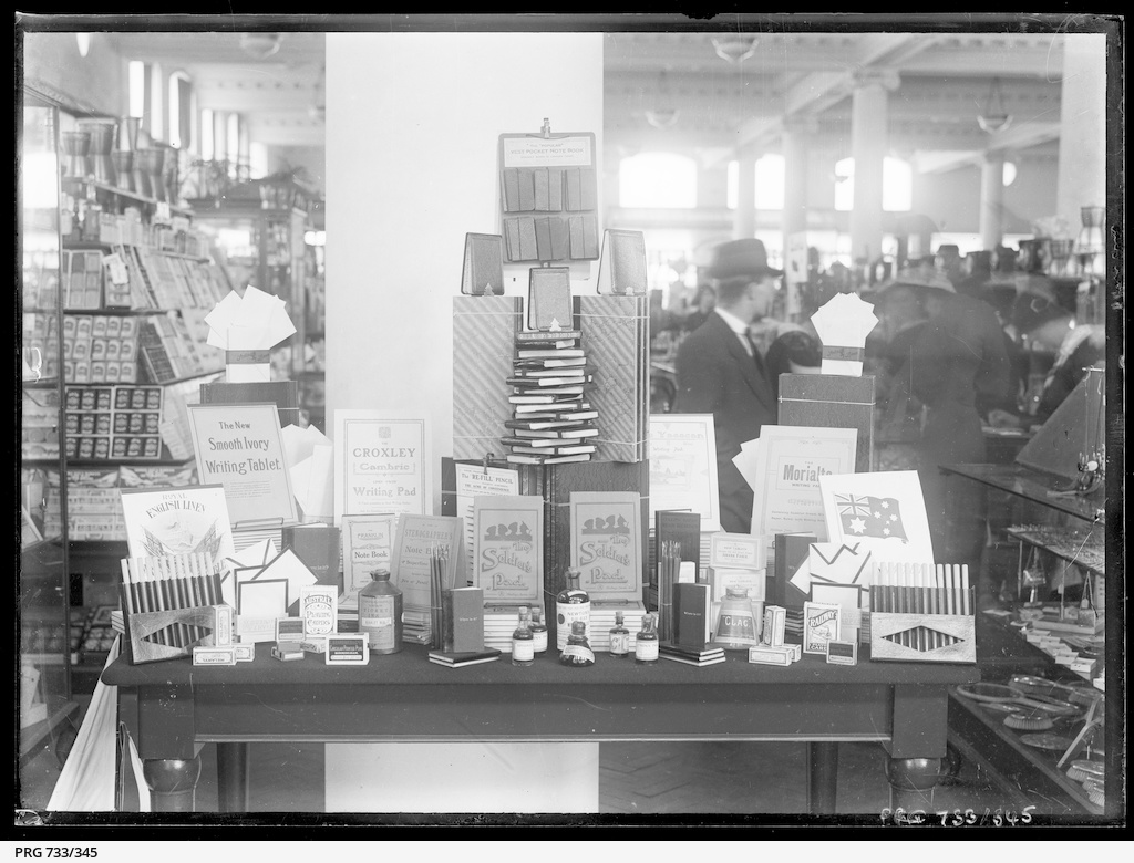 Charles Moore & Co., stationery display