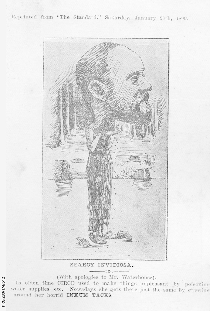 Caricature of Arthur Searcy