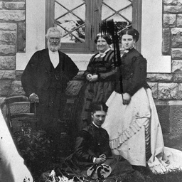 Reverend John Gardner with his wife and daughters