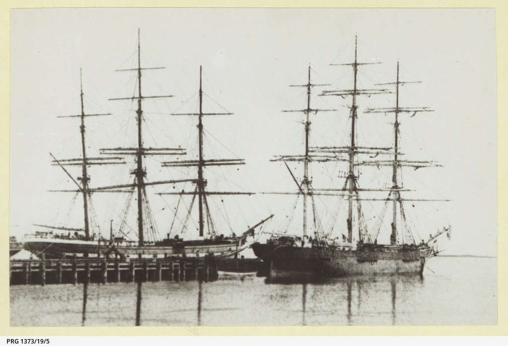 The 'Thyatira' docked in an unidentified port