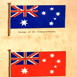 Two flags of the British Empire