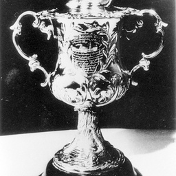 Cup awarded to Captain George Johnston of P.S. Albury in 1855