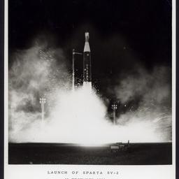 'Launch of Sparta SV-2, 13 December 1966, Woomera, Australia  '