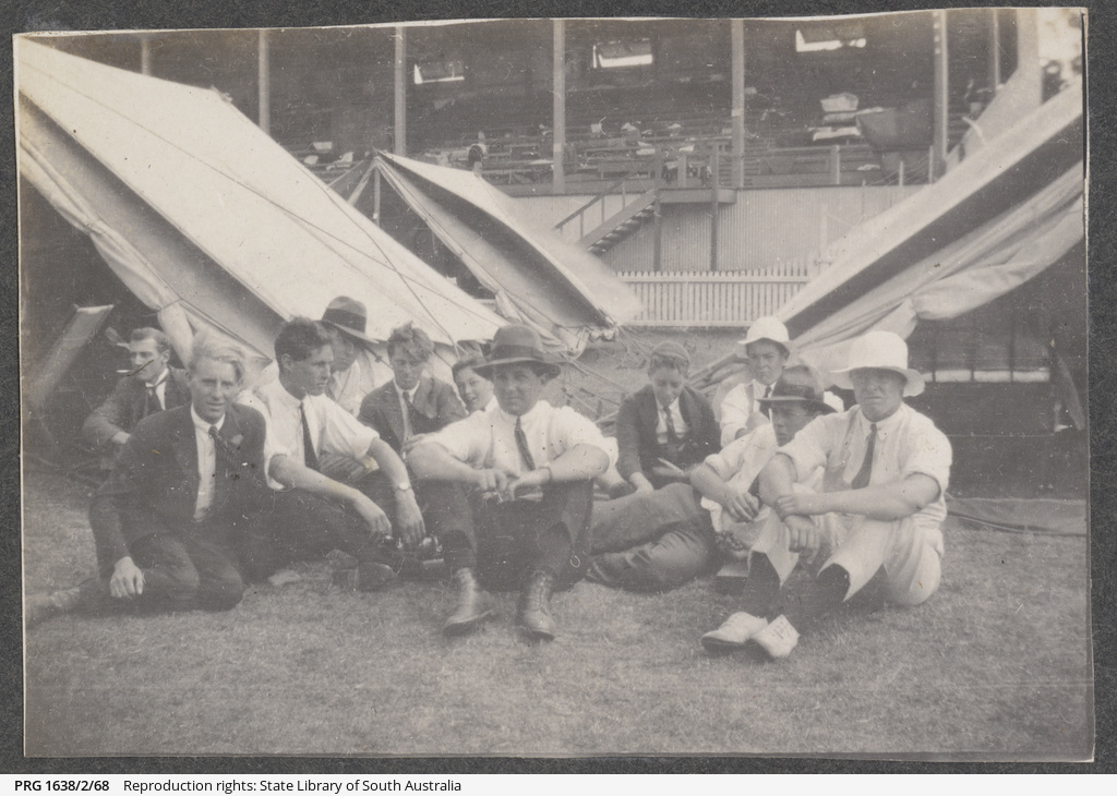 Young men at the Quarantine Camp, Jubilee Oval