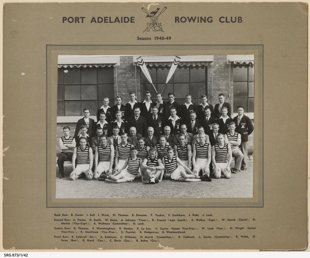 Port Adelaide Rowing Club, 1948 to 1949 Season