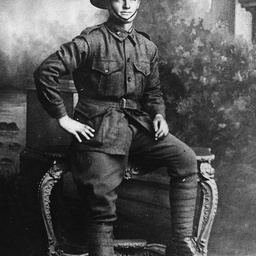Soldier Fred Winkless in his uniform