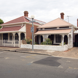 Cottages in Wakeham Street, Adelaide
