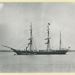 The 'Indus' moored at Gravesend, U.K.
