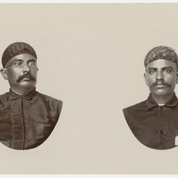 Portraits of two men