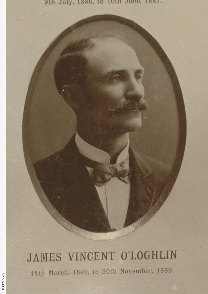 Chief Secretaries of SA : James Vincent O'Loghlin