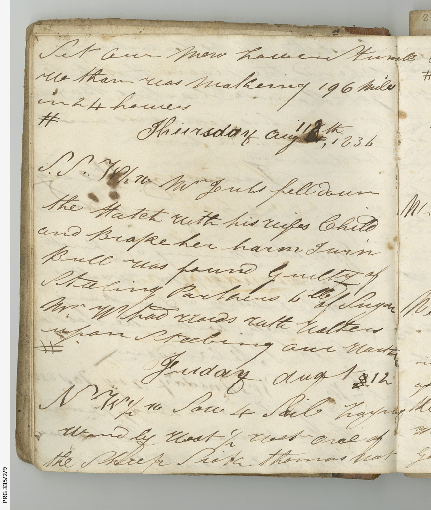 Log book of John White