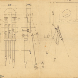 [Measured drawing for design of easels][artwork]