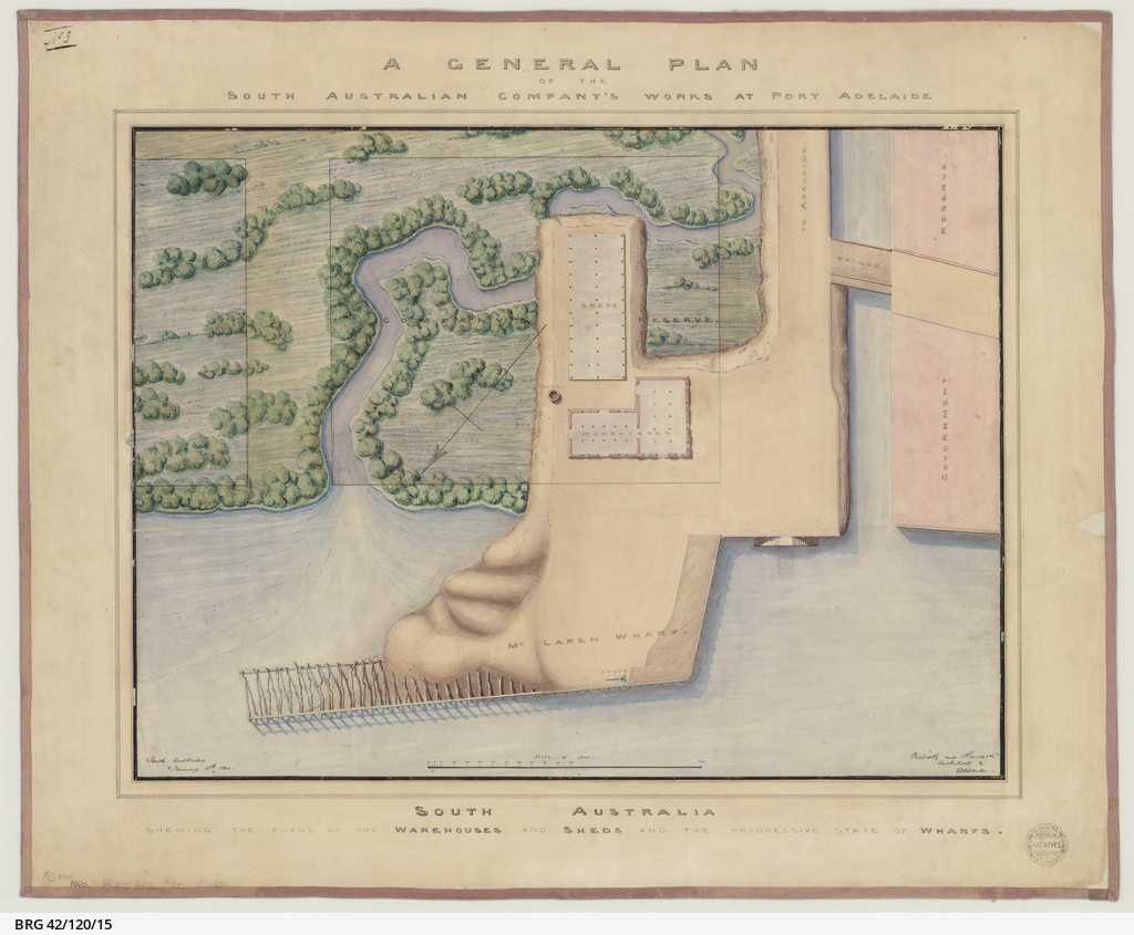 A general plan of the South Australian Company's works at Port Adelaide [cartographic material] / by Prescott and Hancock