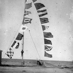 Signalling flags flying at Tumby Bay, South Australia
