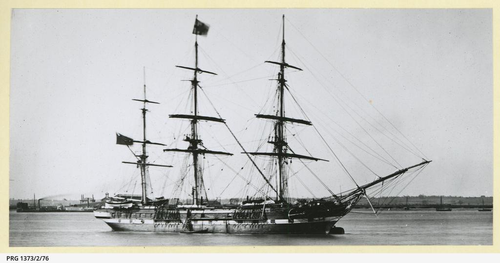 The 'Surrey' moored at Gravesend, U.K.