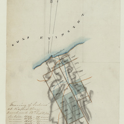 Tracing of sections at Rapid Bay purchased 1852 [cartographic material]