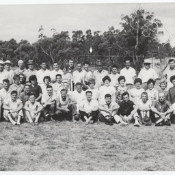 Messenger Press staff at an annual picnic