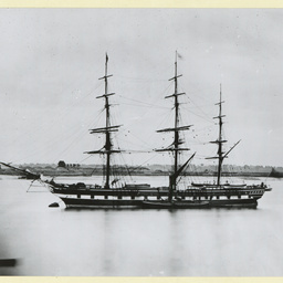 The 'Newcastle' moored at Gravesend, U.K.