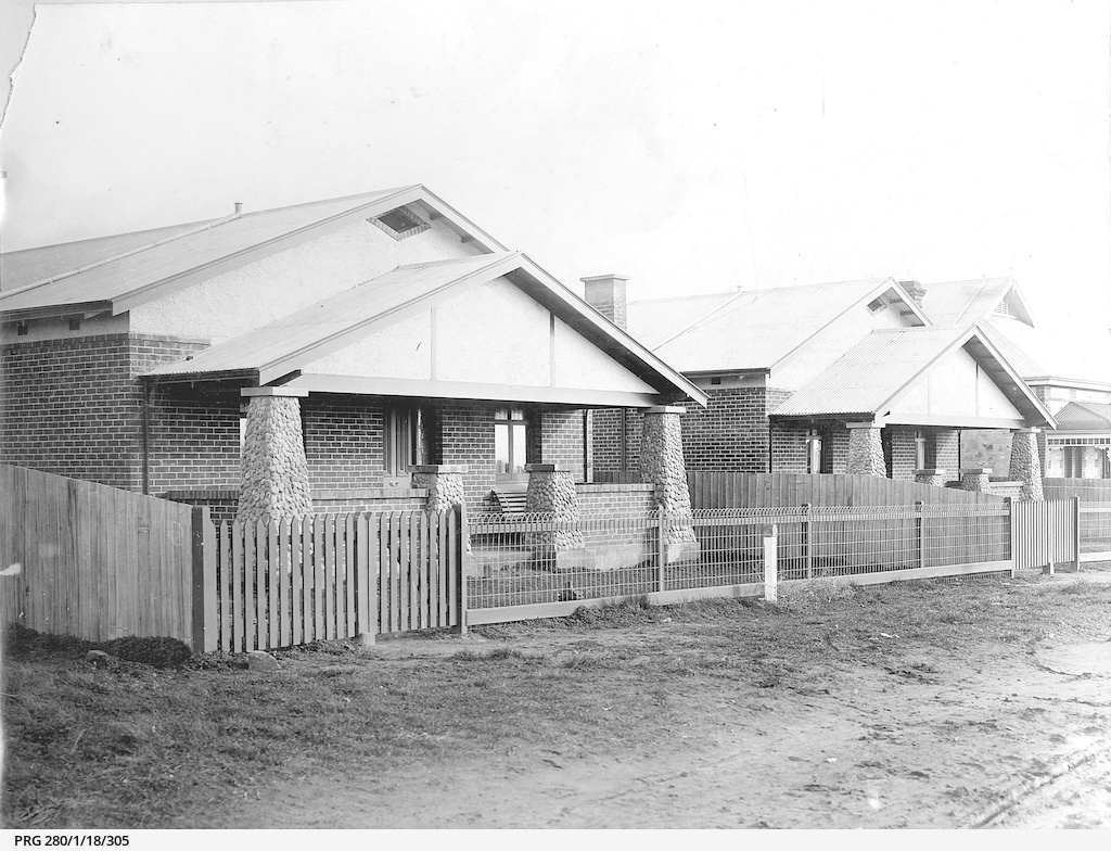 Bungalows in the suburbs of Adelaide