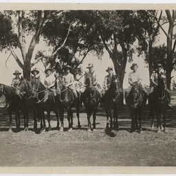 Light Horse troops in training.
