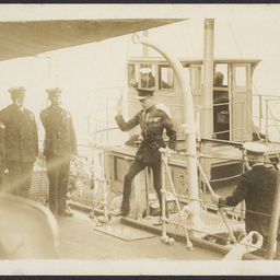 The Prince of Wales on HMS 'Curlew'