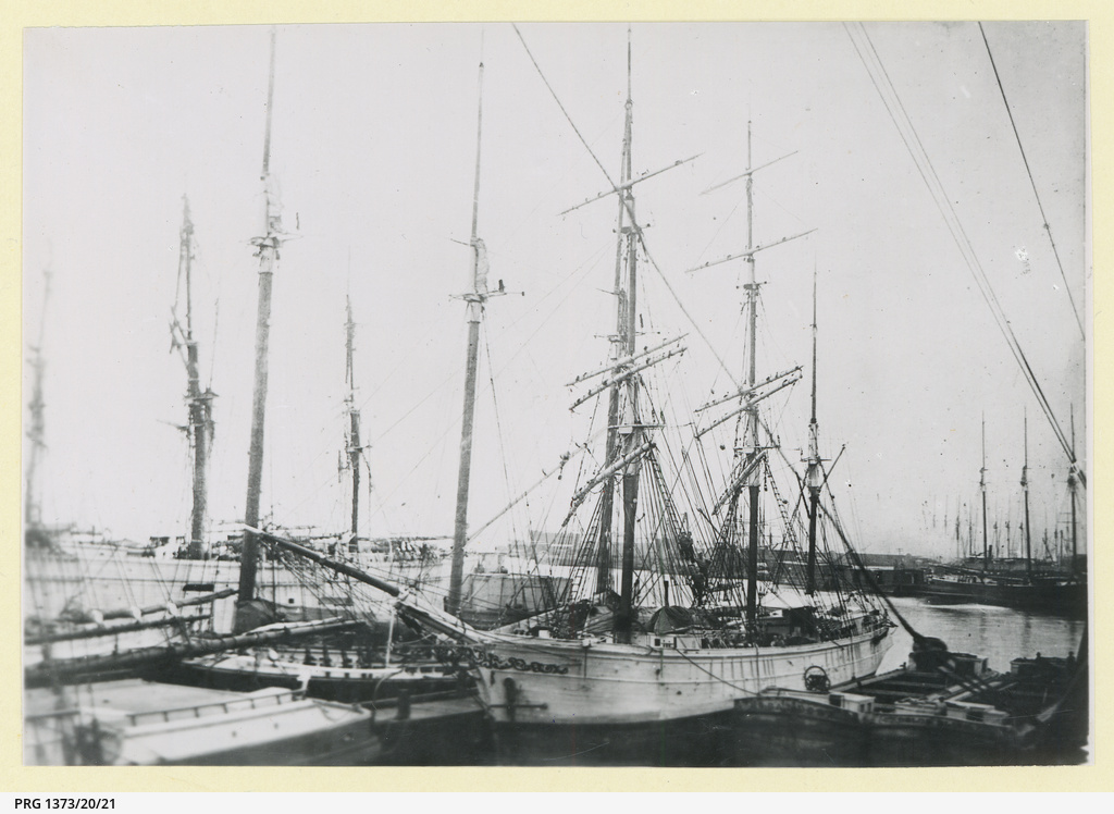 The 'Laura' docked in an unidentified port