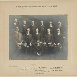 South Australian Inter-State Eight-Oar Crew, 1908