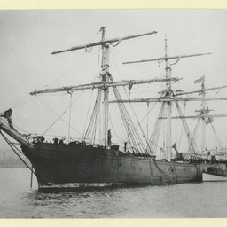 The 'Flintshire' anchored in an unidentified port