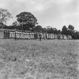 VSDs on parade at Anlaby camp