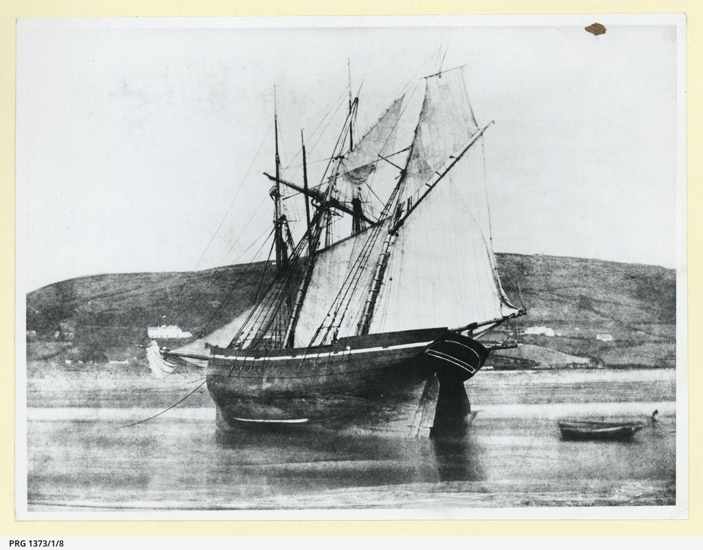 An unknown British wooden barque