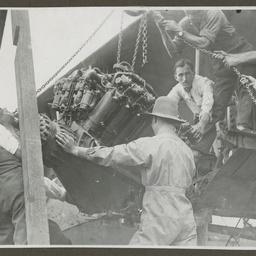 Vickers Vimy engine repairs.