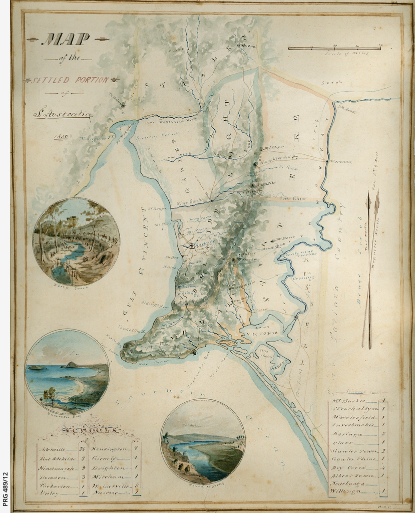 Australia Map 1850.Map Of The Settled Portion Of S Australia 1850 Cartographic