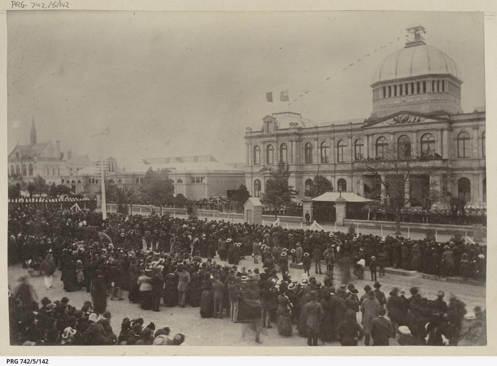 Adelaide Jubilee Exhibition opening