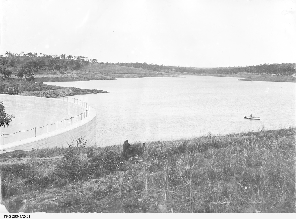 The completed reservoir in the Barossa Valley