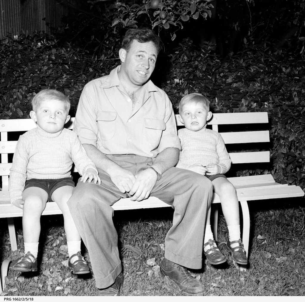 Robert Mason with his two sons, Kirk and Scott