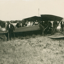 Harry Butler's aeroplane Accident
