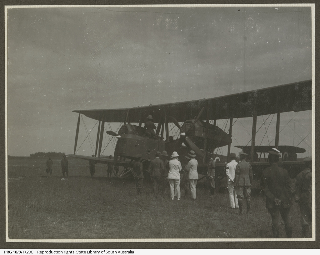 Vickers Vimy and crew, Thailand.