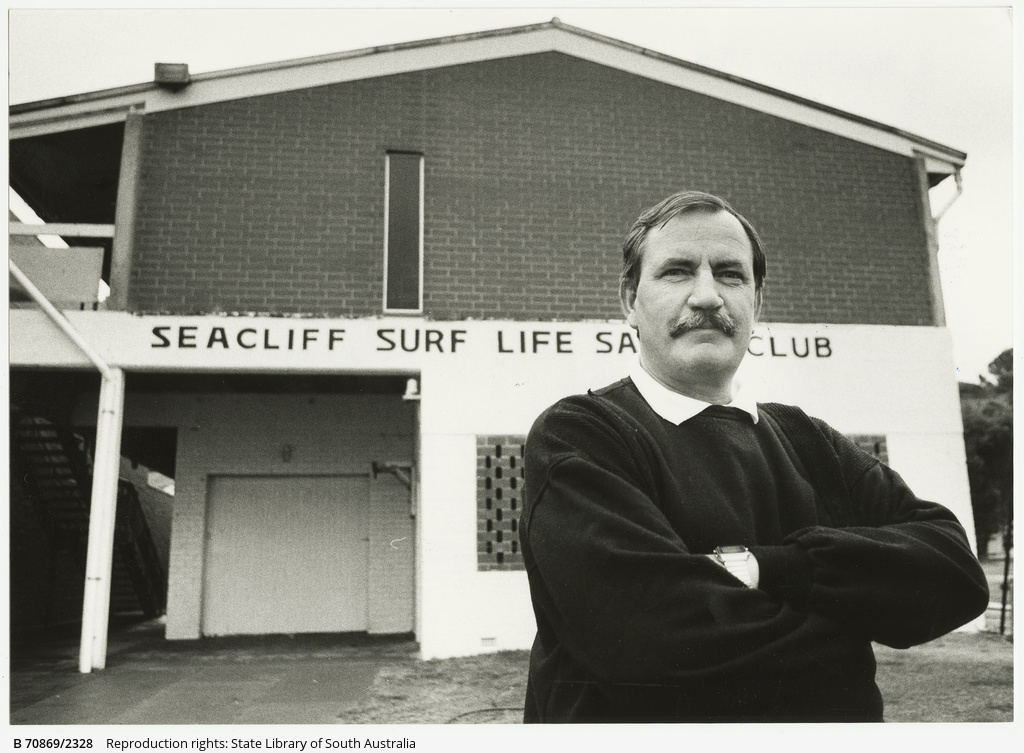 Brian Donnell awarded life membership of Australian Surf Lifesaving Association. 23 May 1990.