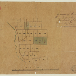 [Unidentified map showing land sections purchased] [cartographic material]