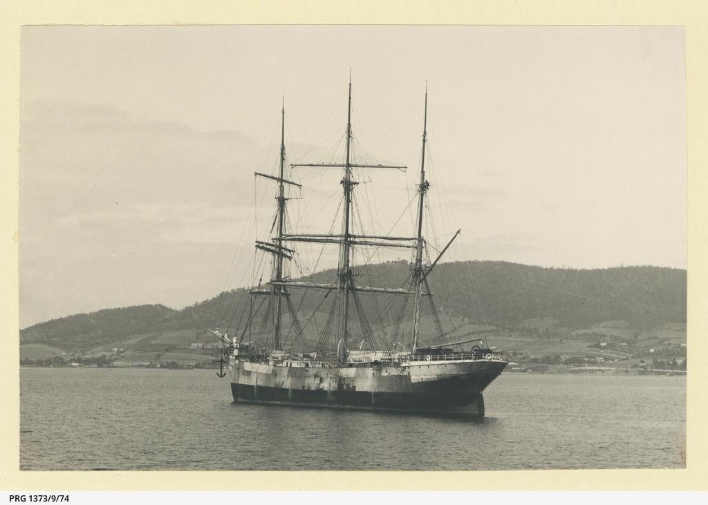 The 'Ancaios' as 'Ravenhill' at Hobart