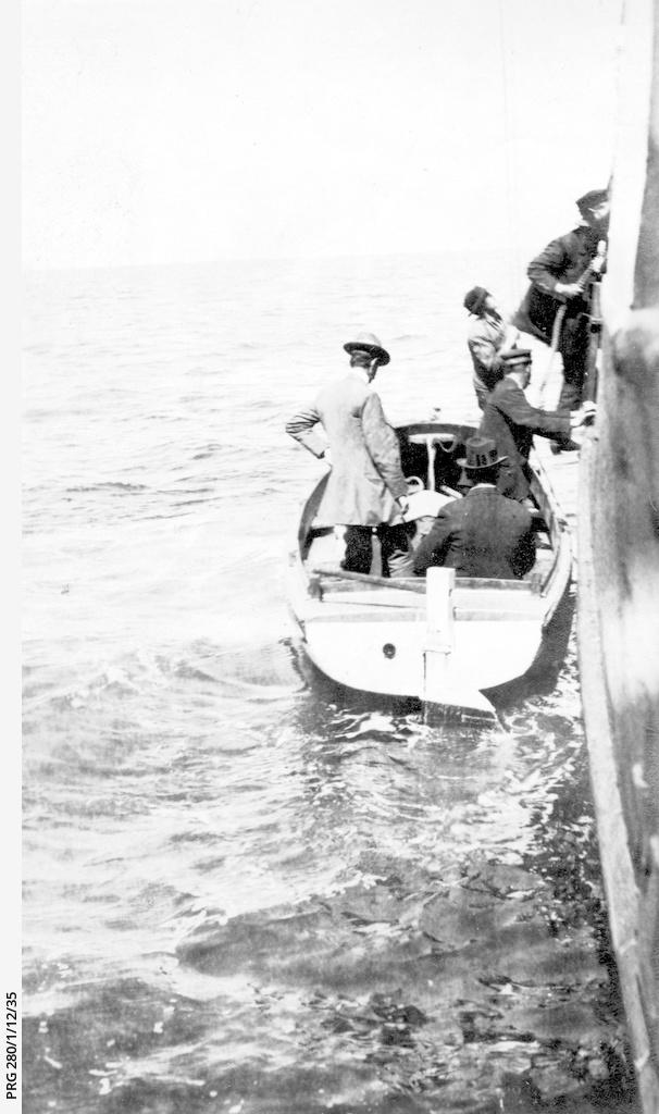 Men boarding the  S.S. 'Governor Musgrave'