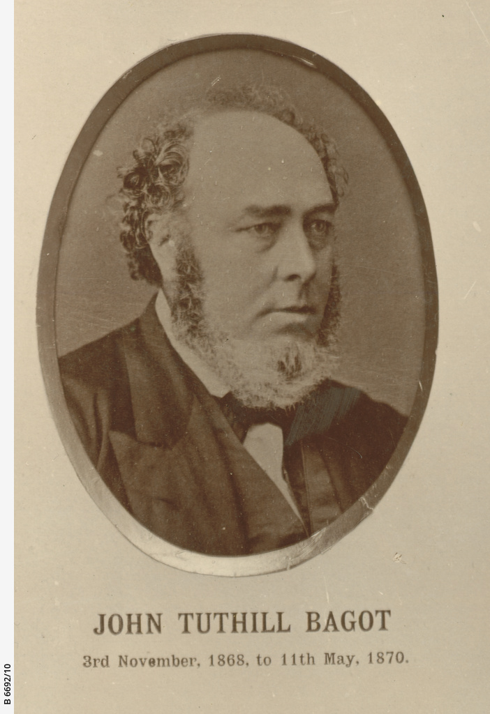 Chief Secretaries of SA : John Tuthill Bagot