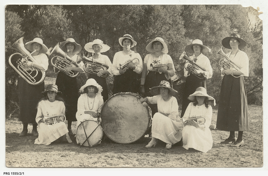 Photographs of the Streaky Bay Ladies' Brass Band